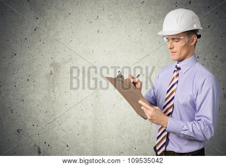 Inspector osha clipboard safety construction isolated manager
