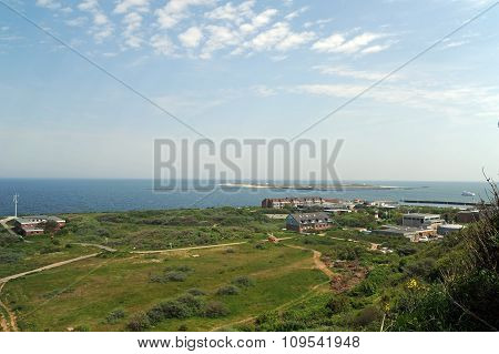 coast of Helgoland german island in the north sea with bathing dune