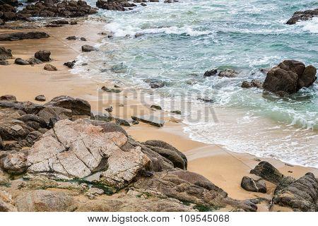 Seascape Rocky Sandy Beach