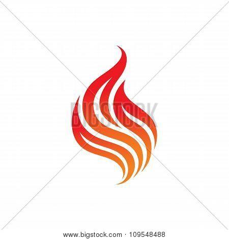 Fire - vector logo concept illustration. Flame logo sign. Dangerous sign.