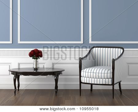 Classis Room Blue And Roses