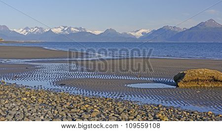 Low Tide On A Quiet Beach