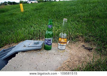 Discarded Beer Bottles