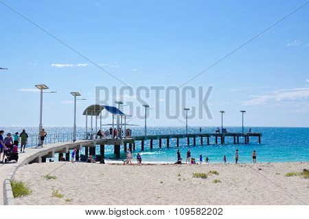 Jurien Bay: Curved Jetty and Beach Recreation