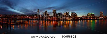 Portland OR. skyline at dusk.
