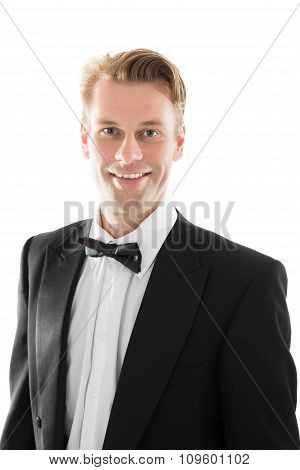 Portrait Of Handsome Mid Adult Waiter