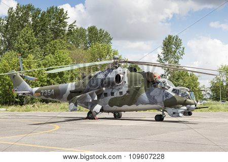 Hind attack helicopter