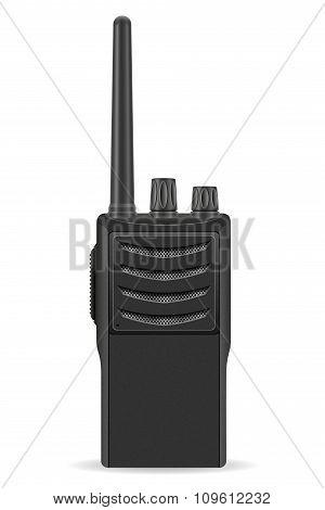 walkie-talkie communication radio vector illustration isolated on white background poster