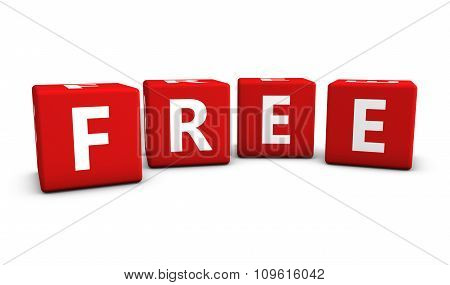Free Sign On Red Cubes