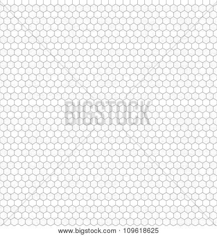 Seamless Black And White Hexagon (honeycomb) Net Pattern