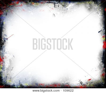 colourful grunge border poster