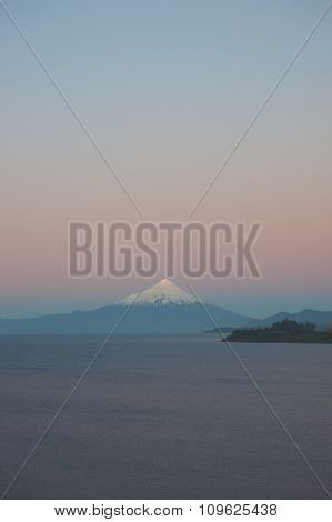Volcano Osorno at Sunset