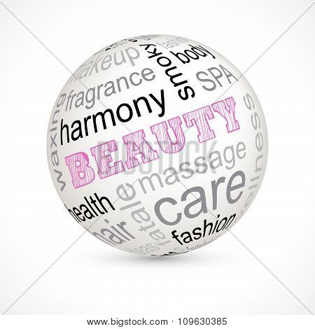 Beauty Theme Sphere With Keywords