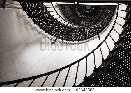 Beautiful Iron Stairs Inside The Lighthouse From Sankt Augustine