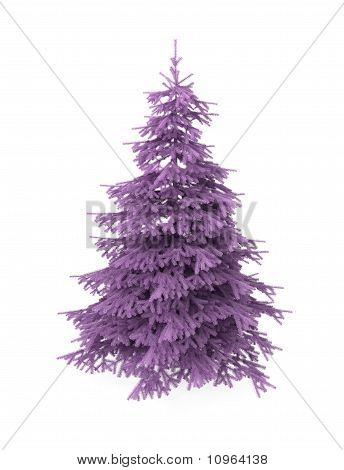 Christmas Tree, Purple, Artificial, Isolated on White