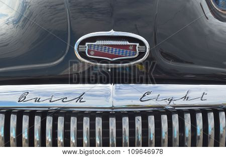 Classic Black Buick Eight motorcar bonnet and grill