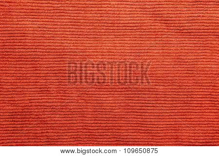 Ribbed Coral color corduroy texture for background