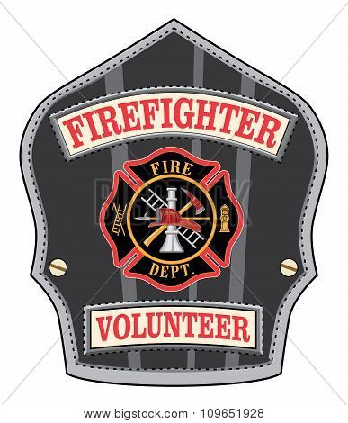 Firefighter Volunteer Badge