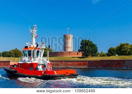 The rescue boat.