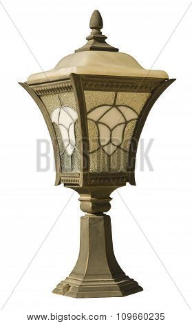 retro street lamps, isolated on white with clipping paths