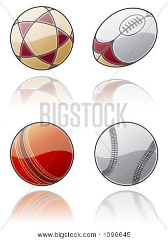 "design elements 50c. ""sport balls icon set"" are a high resolution image with clipping path for general use poster"