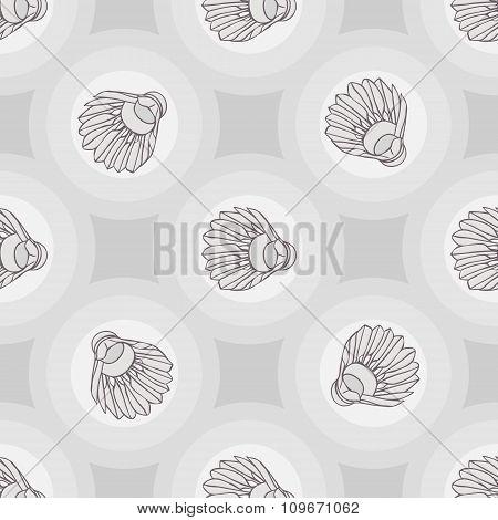 Seamless badminton ball pattern, shuttlecock seamless background