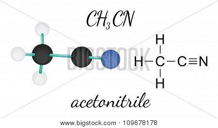 CH3CN acetonitrile molecule