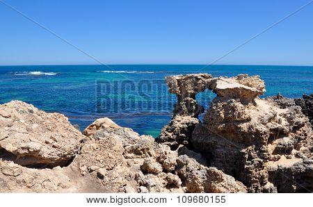Limestone and Ocean Views at Cape Peron, Western Australia