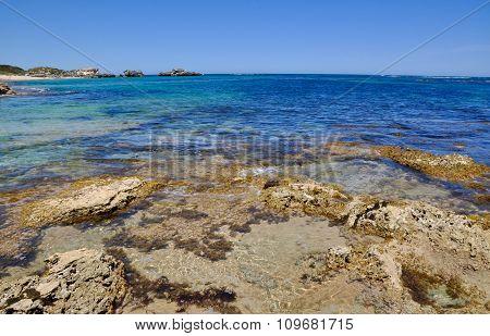 Beach Reef and Ocean Landscape: Cape Peron, Western Australia