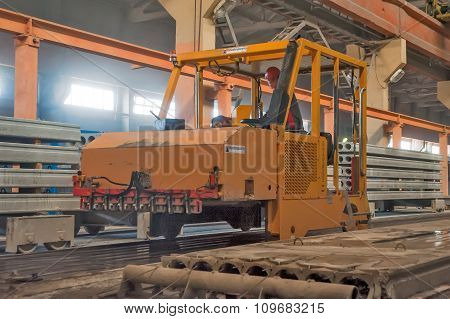 Block making department at construction factory