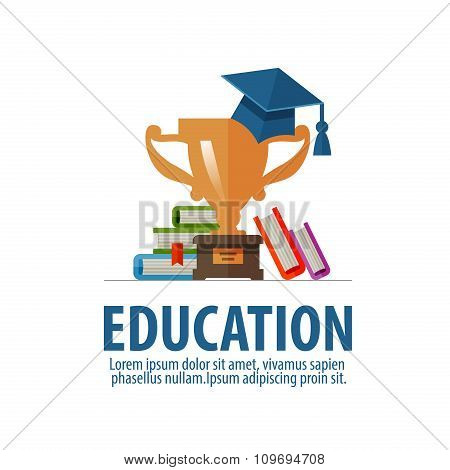education vector logo design template. school or student icon