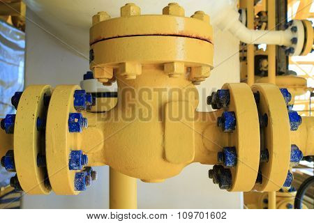 Check Valve In A Production Facility To Control Flow Direction