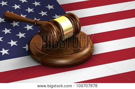 United States Law And Us Justice Concept