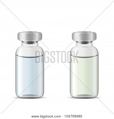 Glass Medical Vials With Drug Solution
