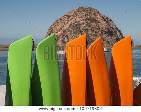 Canoes At Morro Bay