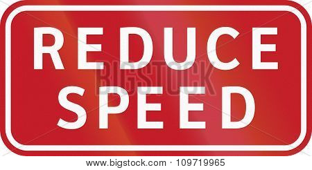 Road Sign In The Philippines - Reduce Speed