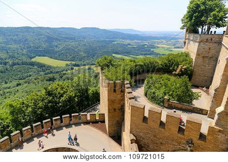 Ramparts In  Hohenzollern Castle, Germany.