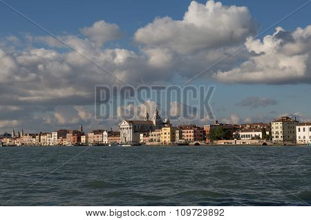 View Of Zattere Waterfront, Venice, Italy