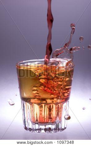 Frozen Water Splash In A Glass