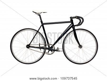 Fixed Gear Black City Bike