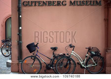 Bicycles on the Gutenberg Museum