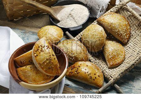 empanada with wholemeal flour