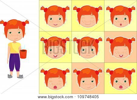 Red-haired Girl With A Cup Of Coffee Emotions: Joy, Surprise, Fear, Sadness, Sorrow, Crying, Laughin