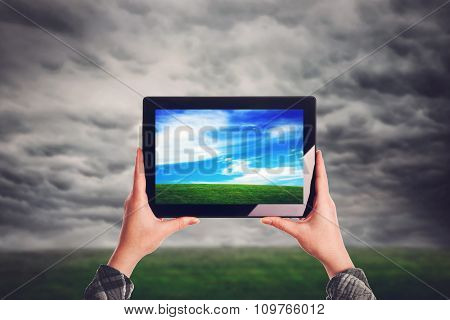 Environmentalist With Digital Tablet Computer