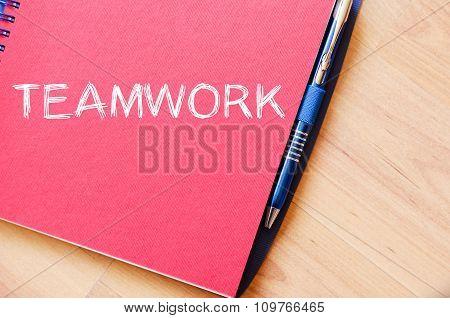 Teamwork Write On Notebook