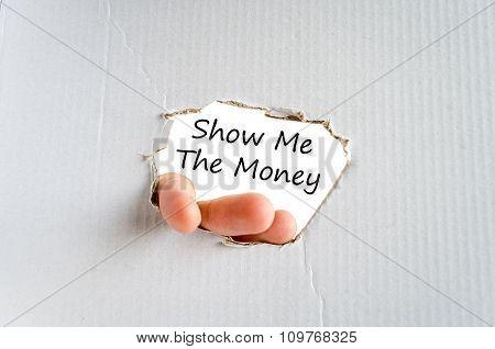 Show Me The Money Text Concept
