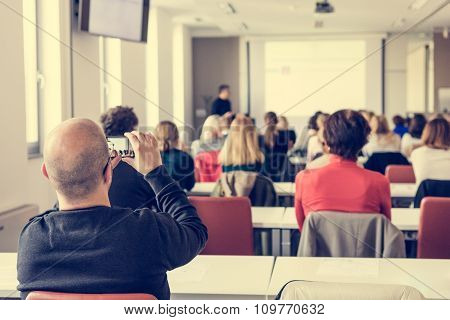 Audience at a business conference.