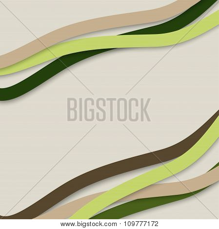?olorful Wavy Stripes. Vector Illustration