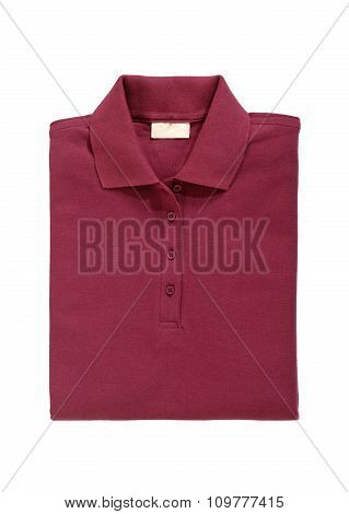 Polo Shirt Bordeaux Red