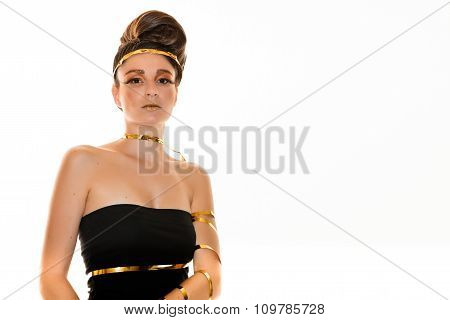 Female Model on White